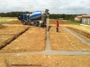 Coulages des fondation construction MA Concept