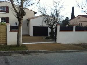 Livraison d une construction sur balma ma concept - Mur pour portail coulissant ...