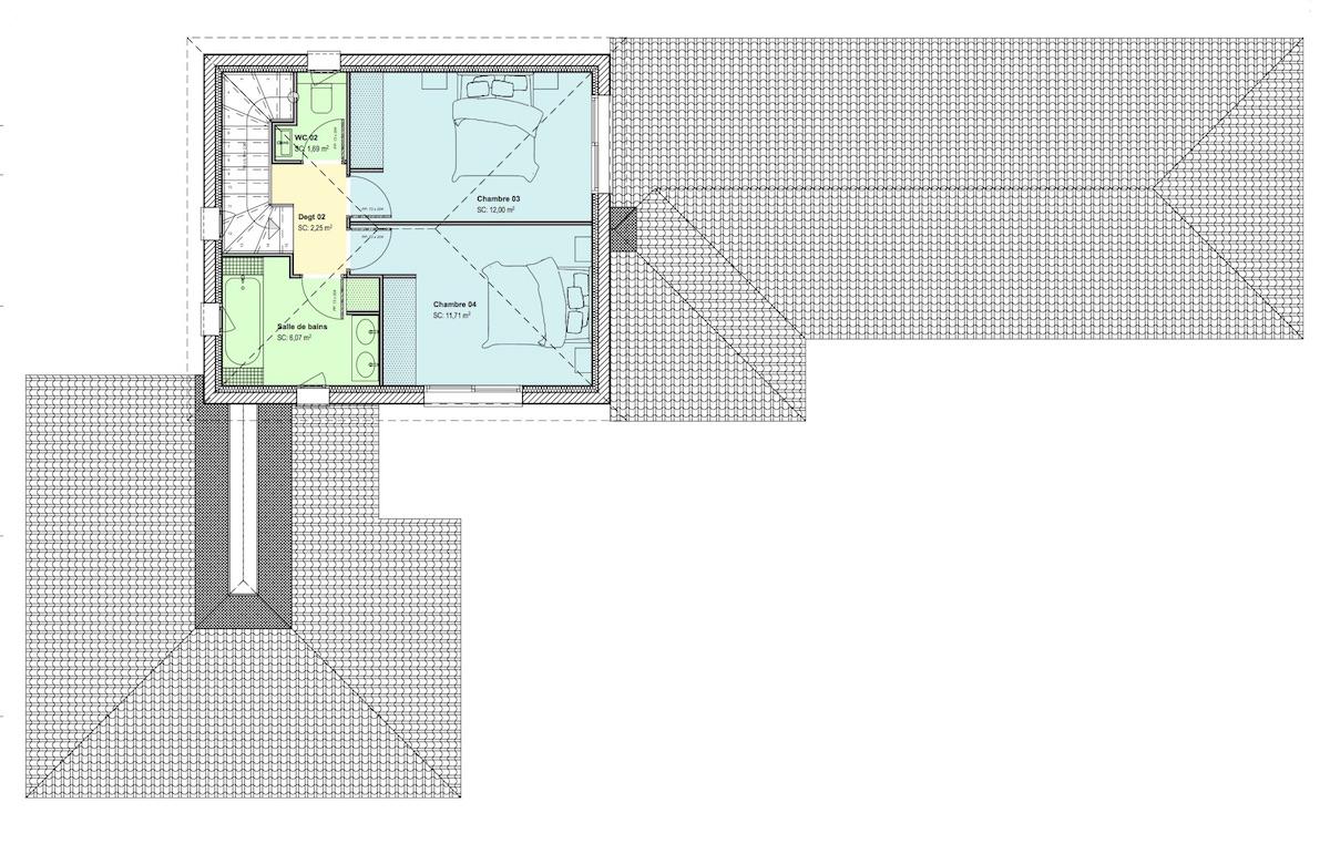 Maison étage partiel R+1 - site web - copie
