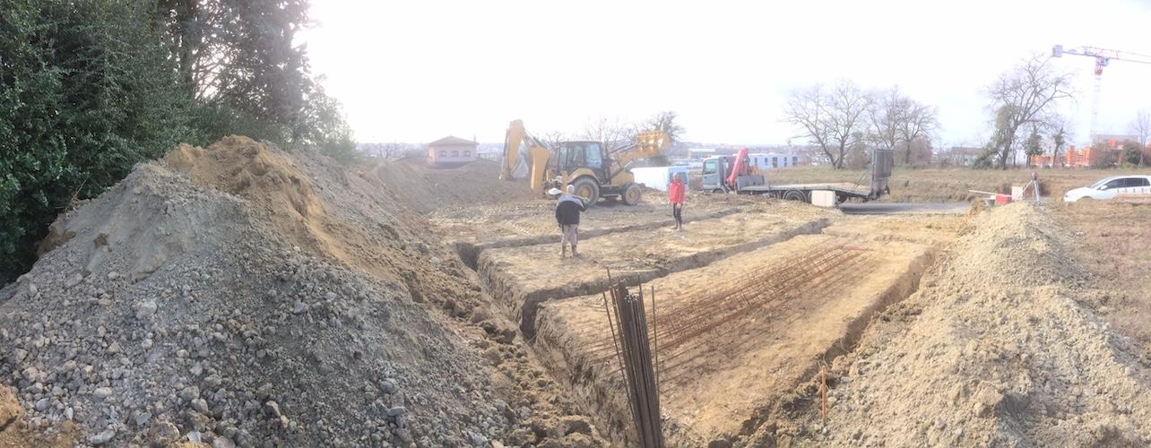 ouverture du chantier de la construction d'une maison individuelle à BALMA 31130