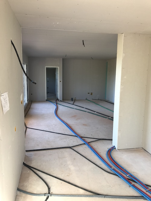 premier passage électricité et plomberie pour la construction de la maison de Paulhac 31380